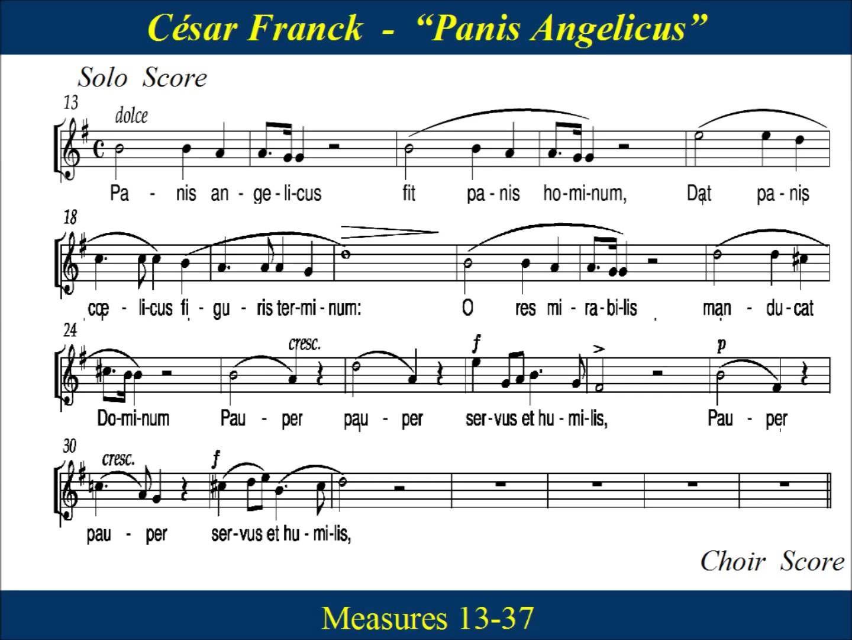 Panis Angelicus - Franck - Solo & Choir - Soprano | Music ...