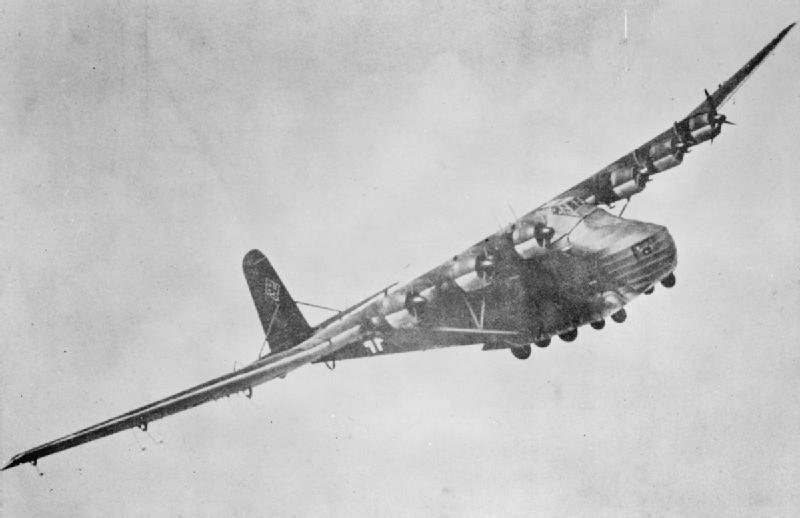 Messerschmitt Me 323 inflight banking right.