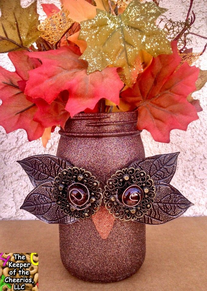 good Pinterest Fall Crafts For Adults Part - 5: DIY Owl Mason Jars...these are the BEST Fall Craft Ideas u0026 DIY Home Decor  Projects!