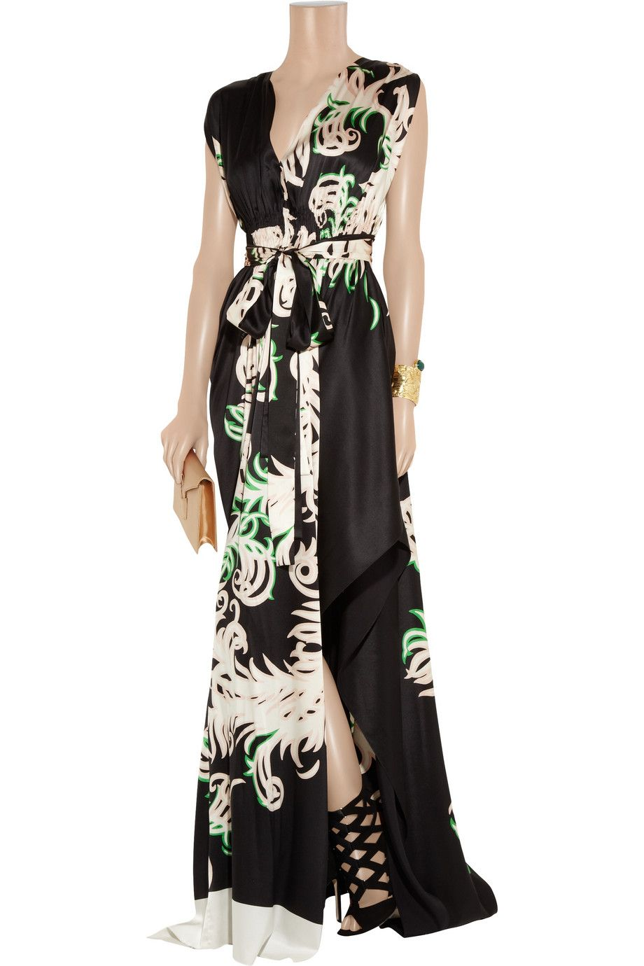 Vionnet Printed stretch-silk satin gown - THE OUTNET $1,614.40