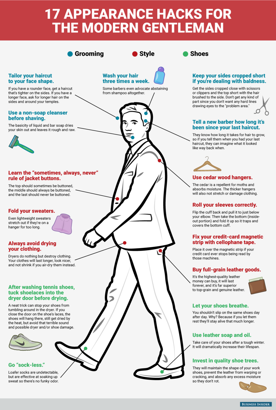17 Style And Grooming Hacks Every Gentleman Needs To Know