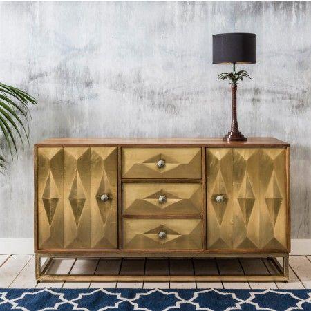Umberto Brass Sideboard - Sideboards & Wardrobes - Furniture - Furniture