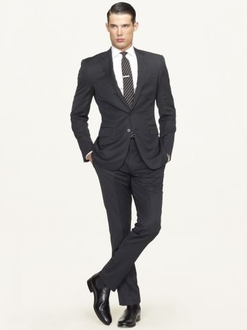 Anthony Wool Gabardine Suit - Black Label Suits - RalphLauren.com  Impeccably tailored in Italy