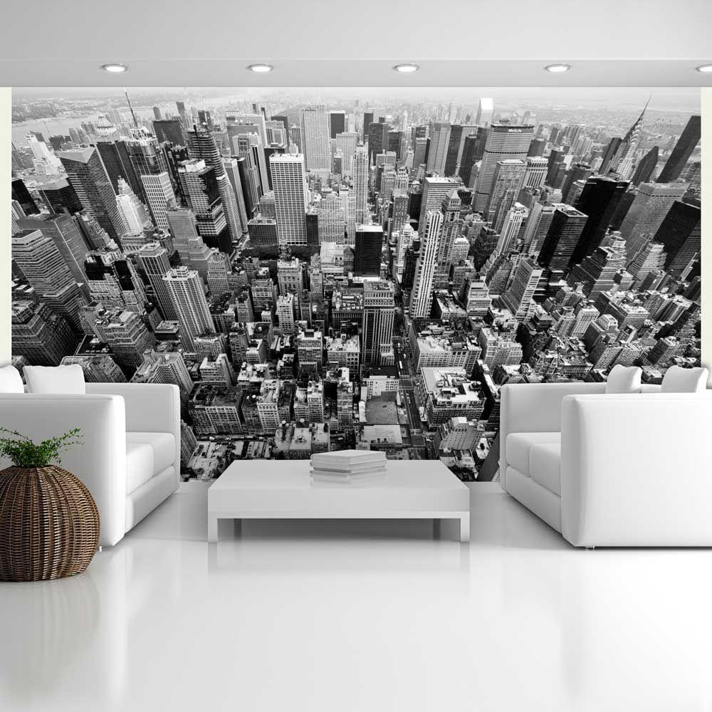Papier Peint Noir Et Blanc Graphique papier peint - États-unis, new york: noir et blanc | photo