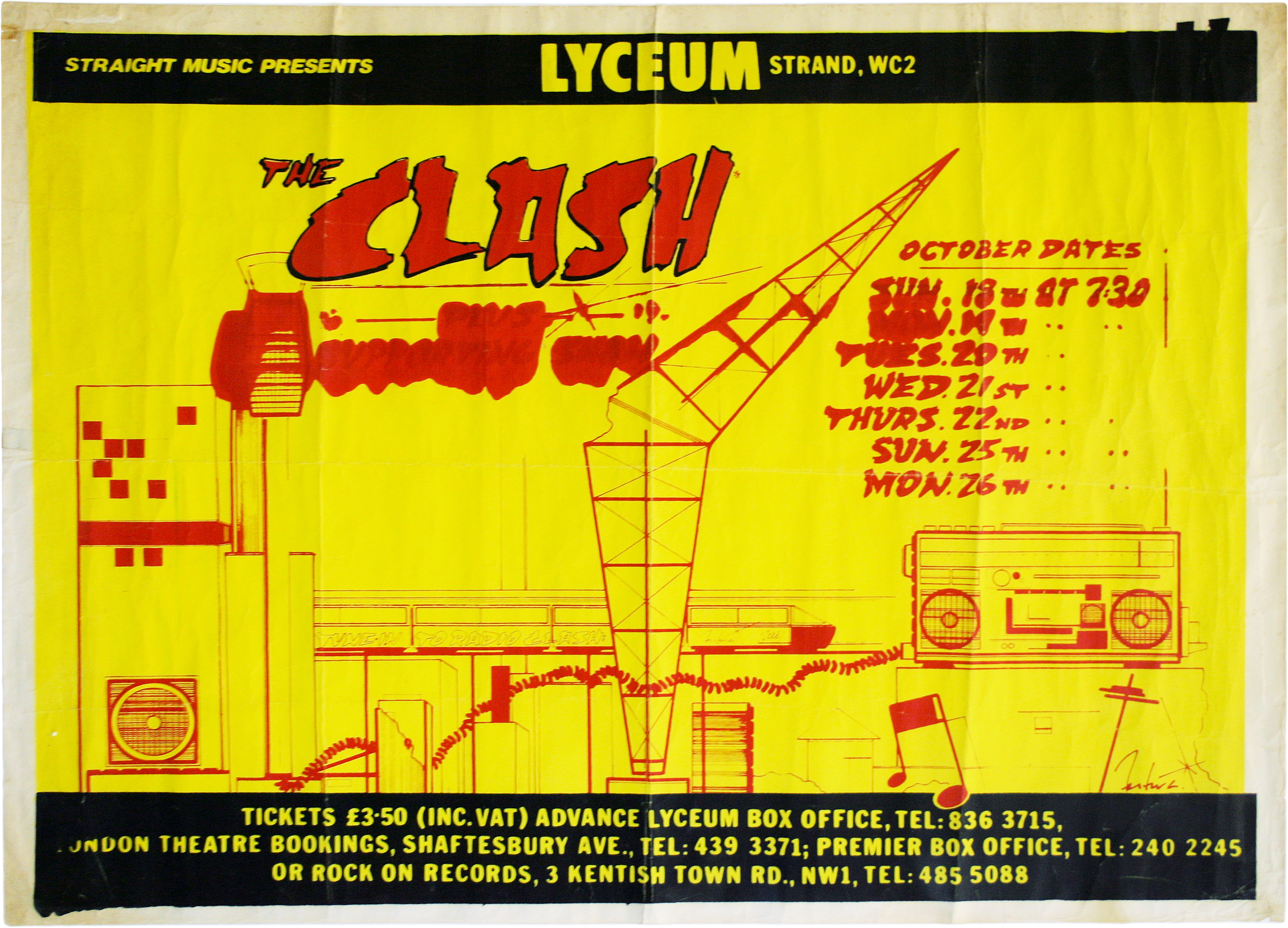 Paddle8 Concert Poster for Lyceum Theatre London The Clash