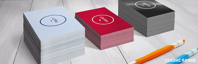Classic Range Business cards from only £15