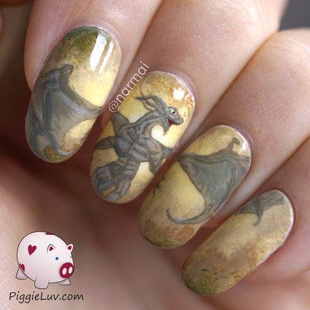 Earth Dragon Nail Art Comic Creative Nails Bellashoot