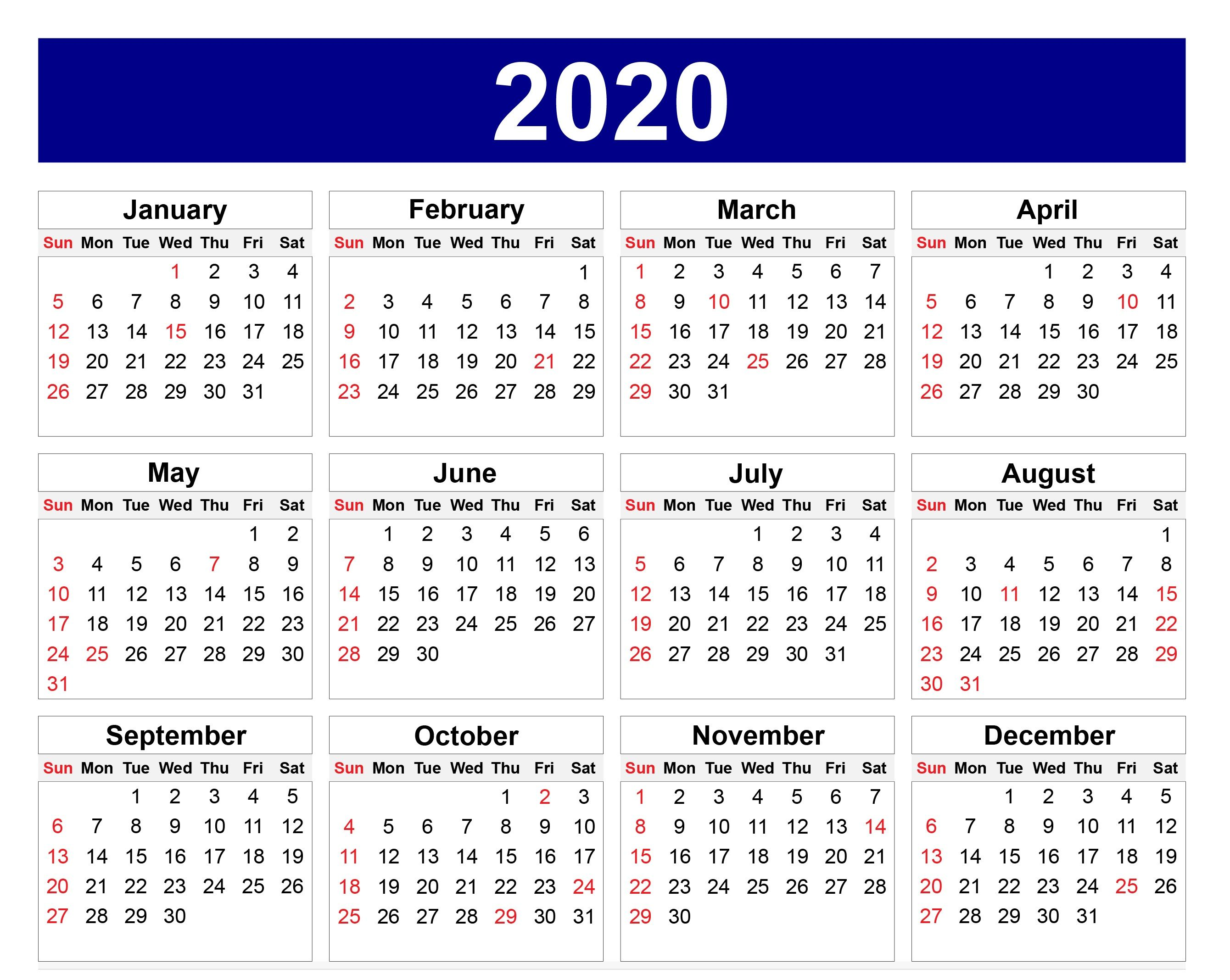 Beautiful Wallpaper Calendar For 2020   Printable calendar ...