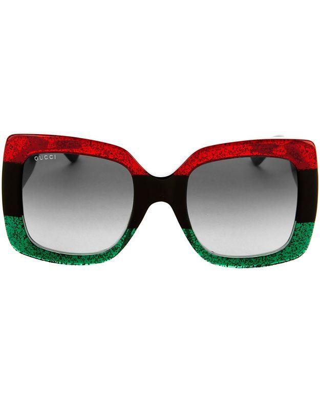 7d976277c2e47 GUCCI Oversized Square Glitter Sunglasses.  gucci  sunglasses ...
