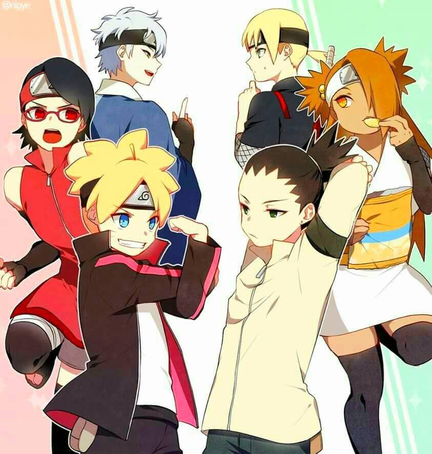Boruto: Boruto, Sarada,Mitsuki, Shikadai, Chocho And Inojin