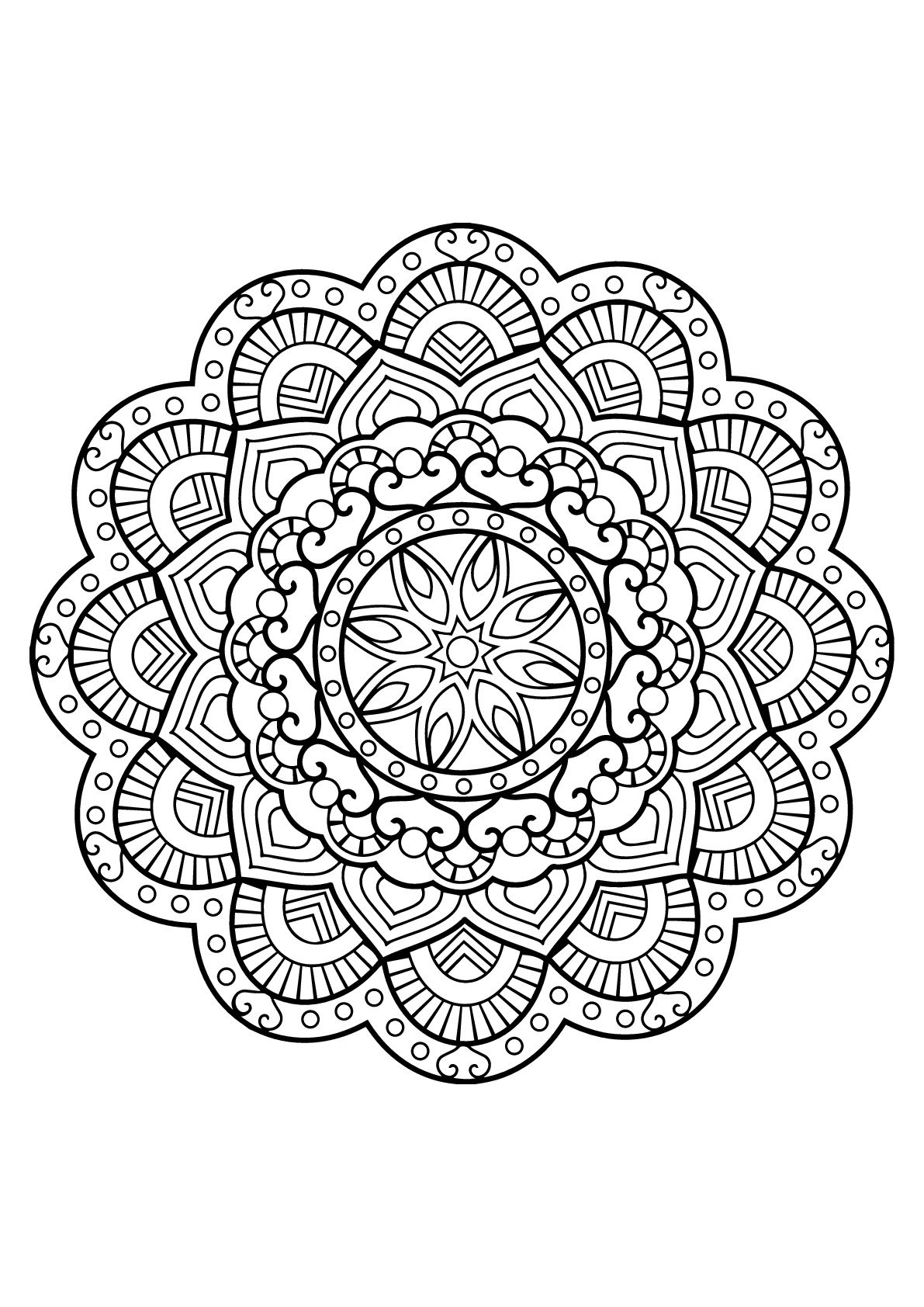 Here Are Difficult Mandalas Coloring Pages For Adults To Print For Free Mandala Is A Sanskrit Mandala Coloring Pages Mandala Coloring Puppy Coloring Pages