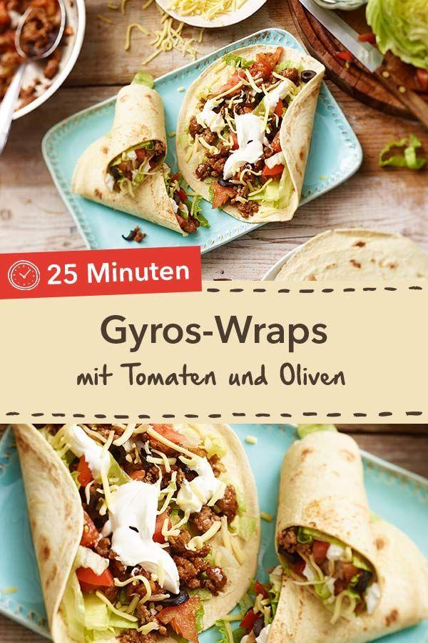 Gyros-Wraps #schnellepartyrezepte