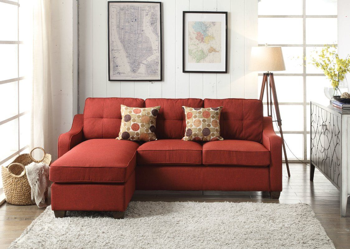 Orchard Hill Reversible Sectional Red