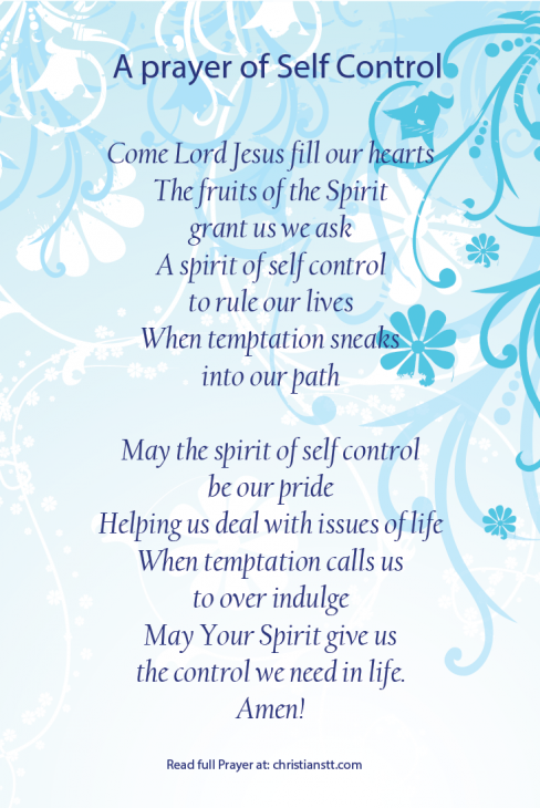 A Prayer of Self Control   Spiritual Notes   Prayer for guidance
