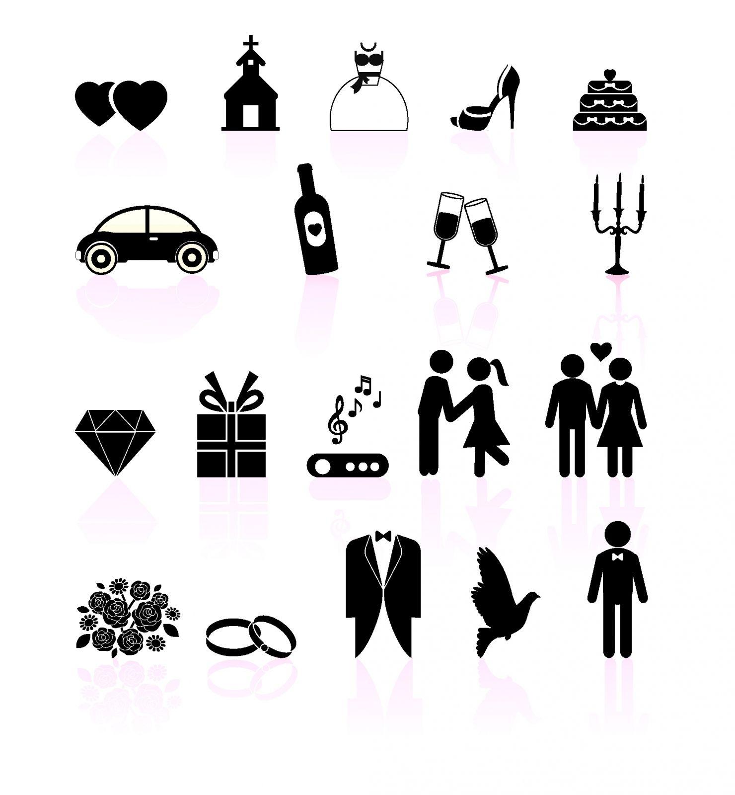 Hochzeit Symbole Vorlagen