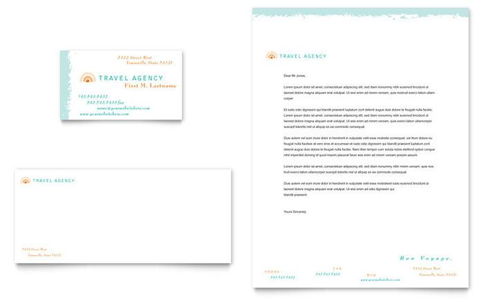 Limousine Service - Business Card \ Letterhead Template Design - free business letterhead templates download