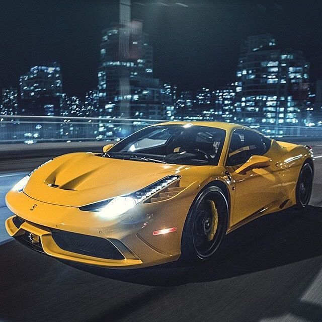 Yellow Ferrari Hypercars Luxury Cars Stance
