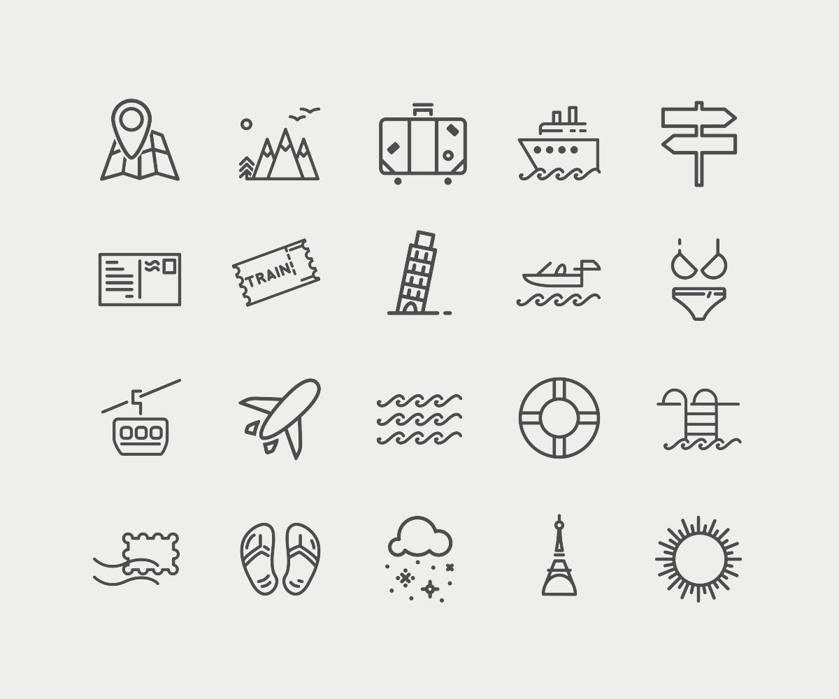 Free Travel Icons You Can Have For Your Designs