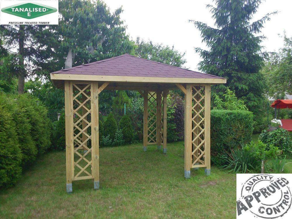 Oak Gazebo 3mx3m Including Cedar Shingles Diy Kit: 10x10 Garden