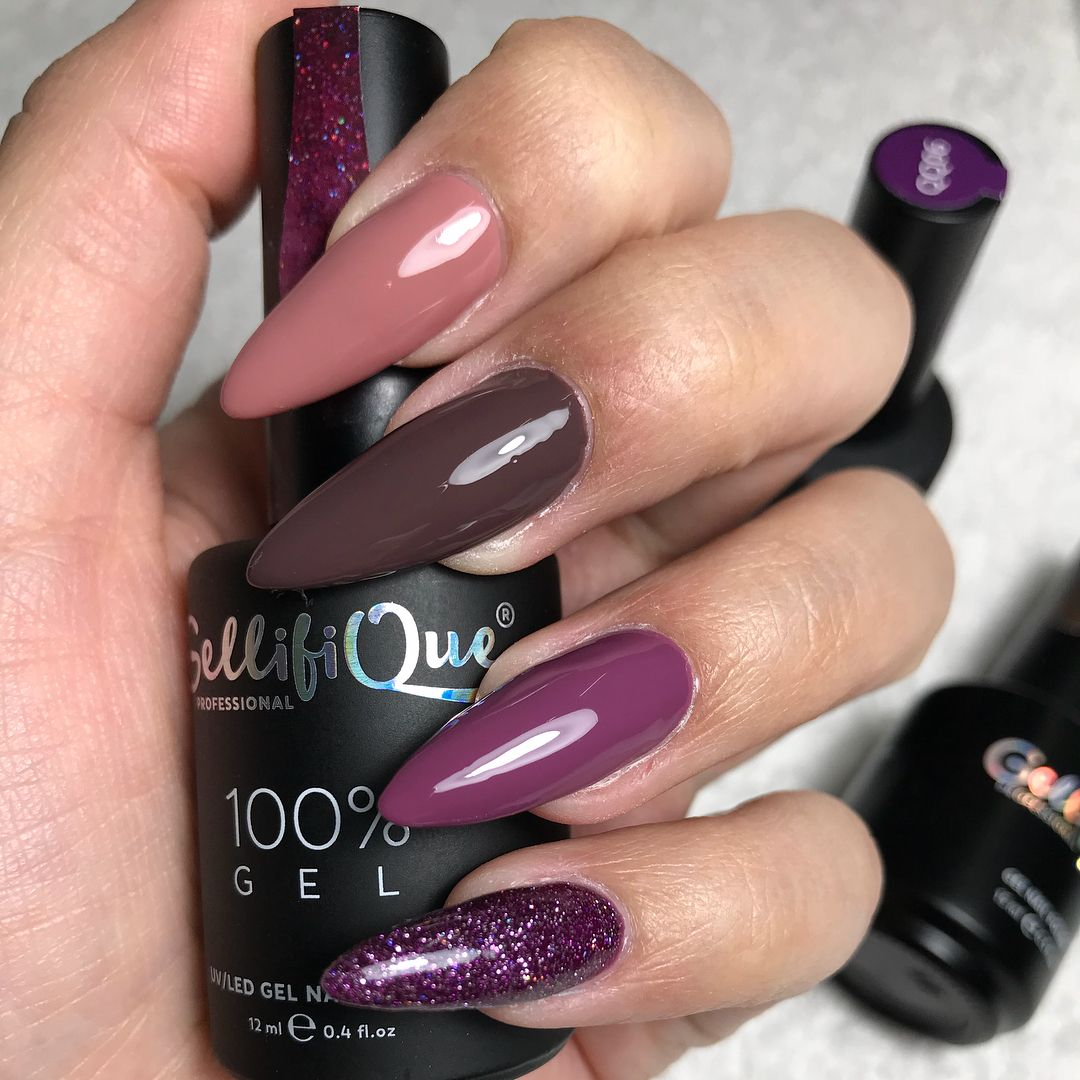 Gellifique 100 Gel Profesional Range Colour Shades 042 054 Qq06 And 159 100 Gel Uv Led Nail Polish Co Nail Polish Nail Polish Colors Nails