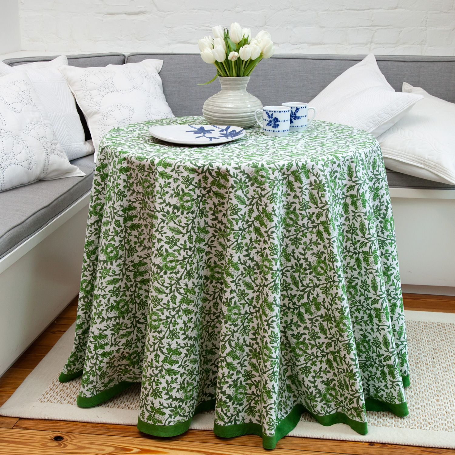 Aria Round Tablecloth Green Round Tablecloth Modern Color Palette Table Cloth