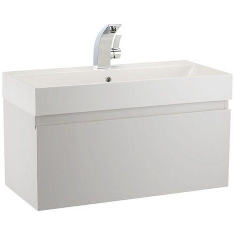 Mino 800mm Basin Wall Mounted Vanity Unit White Gloss Bathstore Bathroom Vanity Units Basin Vanity Unit Basin White