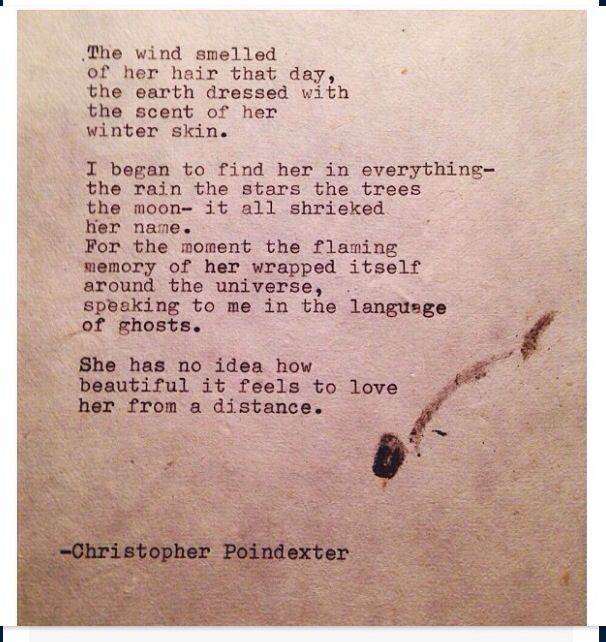 Love her from a distance | thoughts | Pinterest | Distance, Poem ...