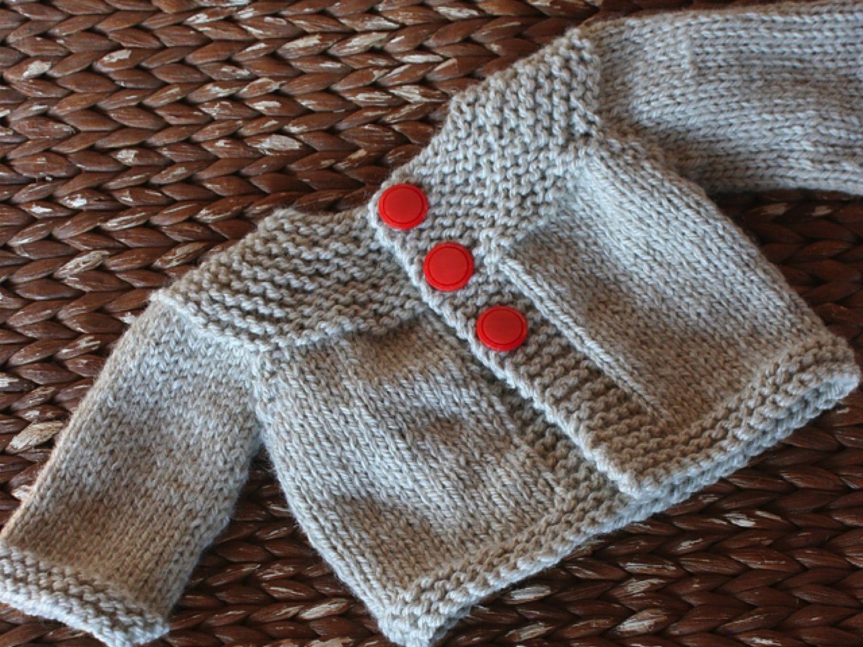 lana-para-tejer-rebeca-bebe Baby jacket knitting pattern | sweaters ...