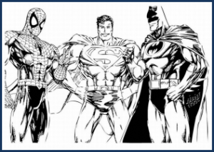 Ultimate Avengers Coloring Pages : Superhero coloring pages template pdf file superhero b day