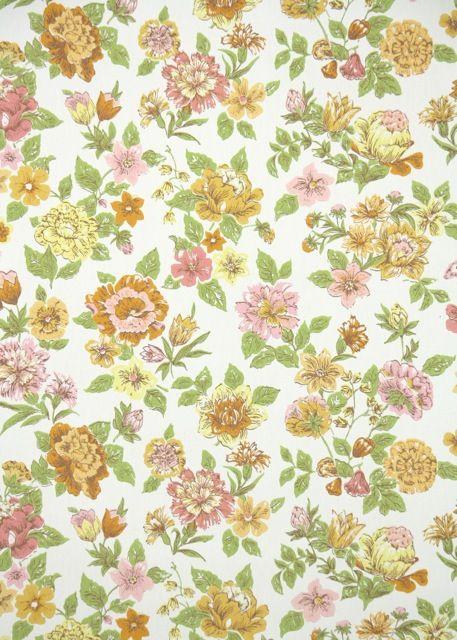 Mosaic 100/% Cotton Fabric Ex Wide Orange /& Brown Petit Motif