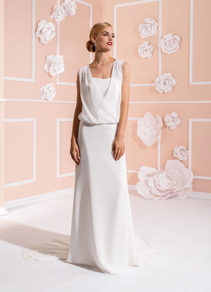 Für die legere Braut eignet sich das Brautkleid 2888T aus der ...