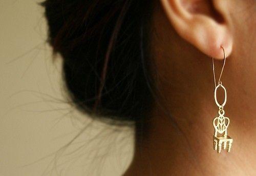 Gold Chair Drop Earrings Miniature Chair Dangle Earrings Etsy Etsy Earrings Dangle Drop Earrings Earrings