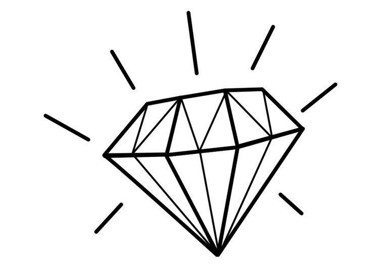 Kleurplaat diamant | Bible journal | Pinterest