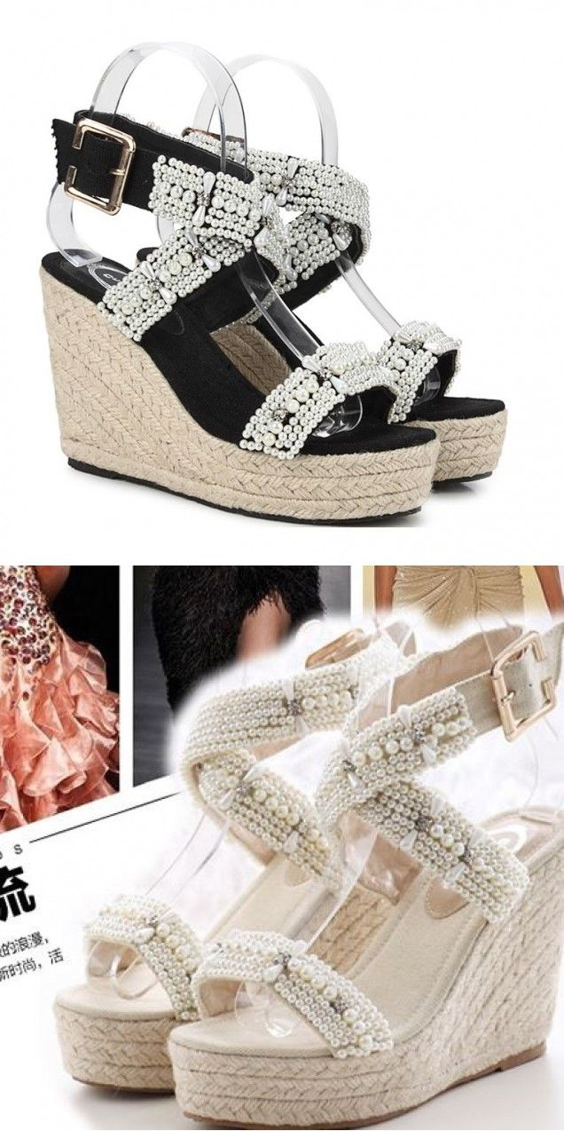Sandals honeymoon shoes with rhinestone - Small Iron Wedge Sandals Resorts In Jamaica Golf Pump Shoes Adjustable Snake Skin Hippie Ankle Open