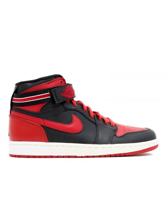 Air Jordan 1 High Strap Black Varsity Red White 342132 061