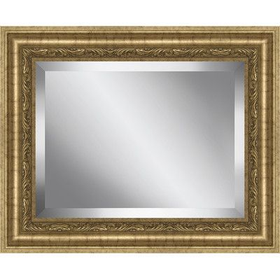 Ashton Wall Décor LLC Rectangle Antique Framed Beveled Plate Glass ...