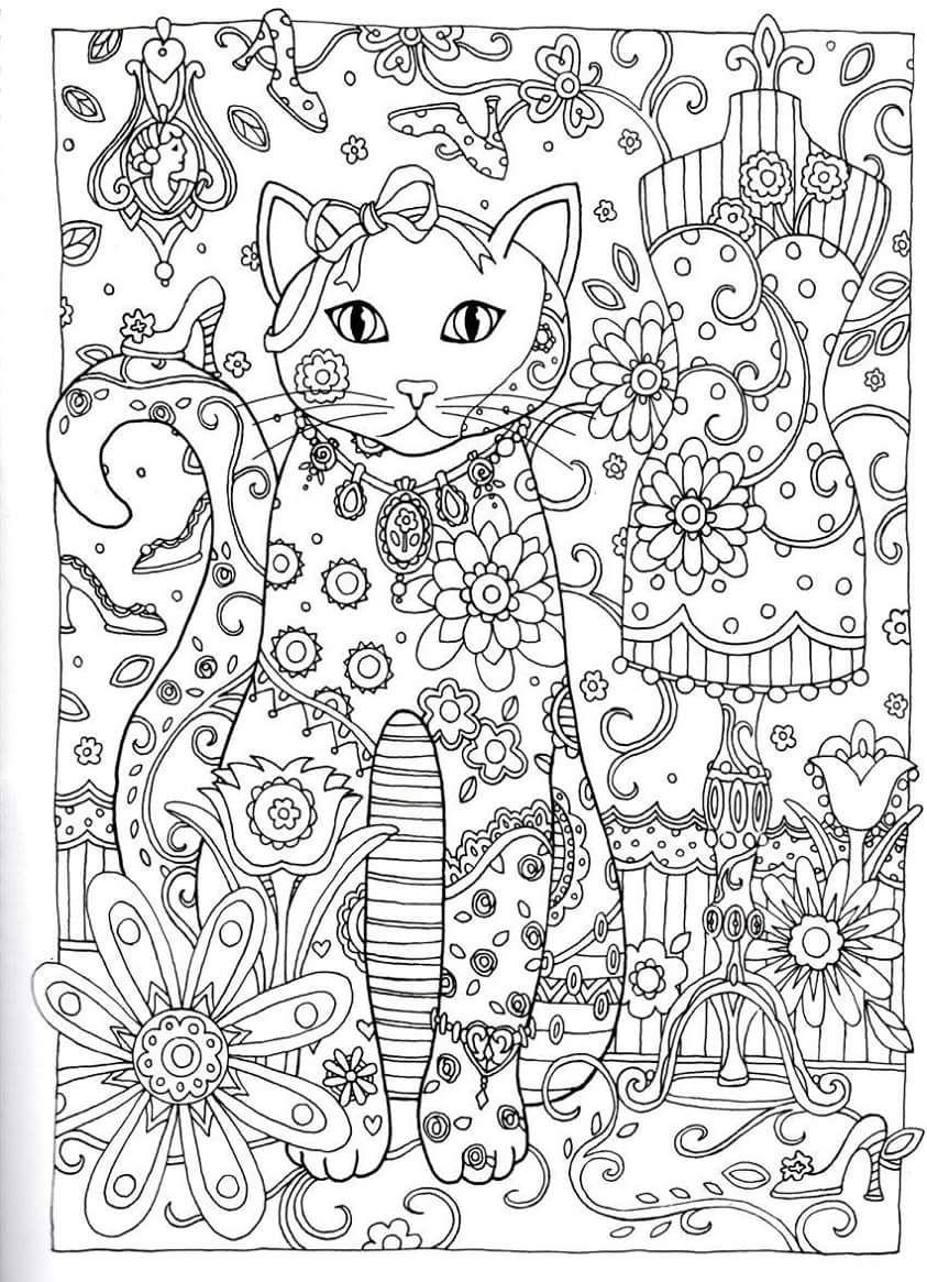 Gatos para Colorir | laminas para pintar | Pinterest | Mandalas ...