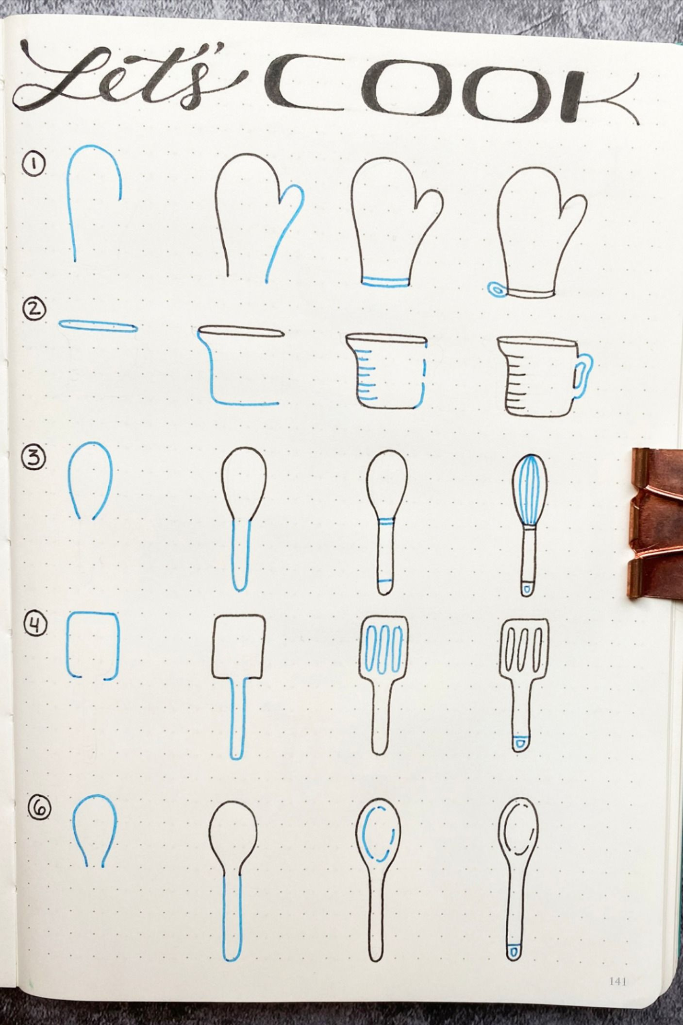 Photo of Bullet Journal Doodles: Let's Cook!