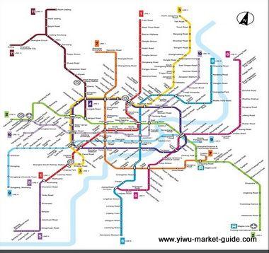 Shanghai To Yiwu By Train Bus Taxi Car Metro Map Subway