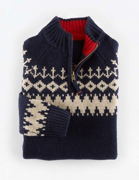 Chunky Fair Isle Half Zip | style de fall & winter | Pinterest ...
