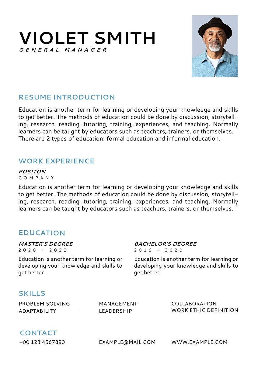 Download Premium Vector Of Minimal Resume Editable Template Vector Cv