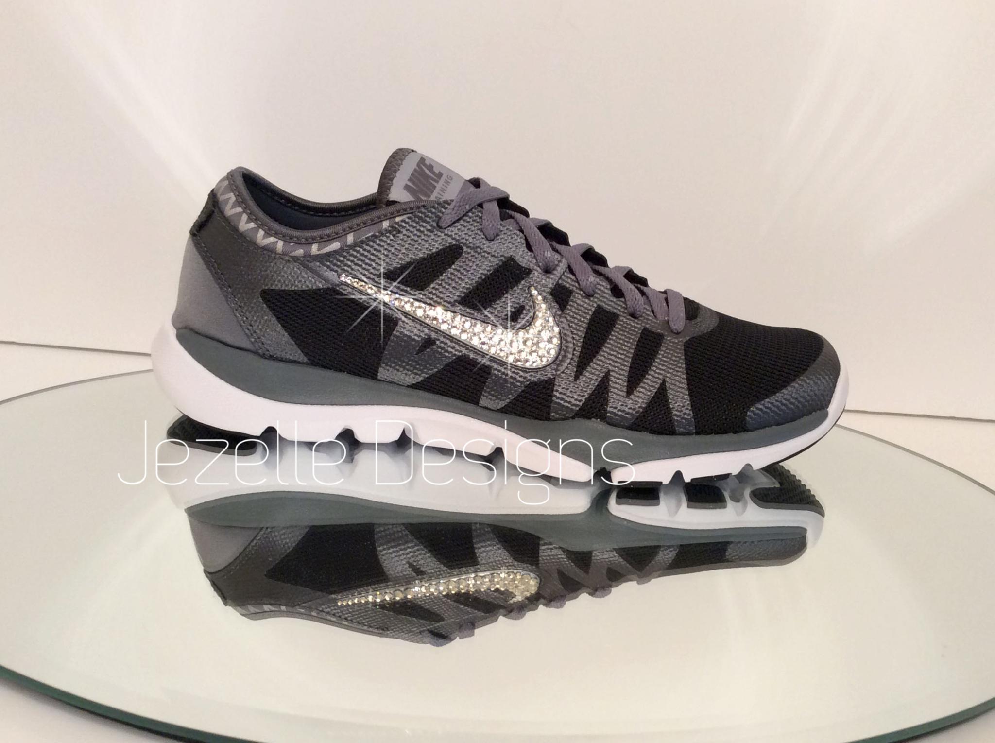 Nike Flex Supreme Swarovski Bling Sneakers - Black 6eba7a052d68