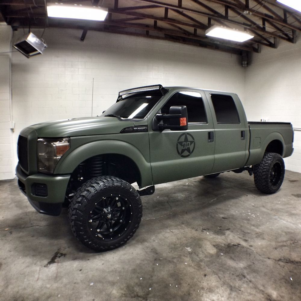2013 Ford F 250 Olive Green Lifted Trucks Diesel Trucks Monster Trucks