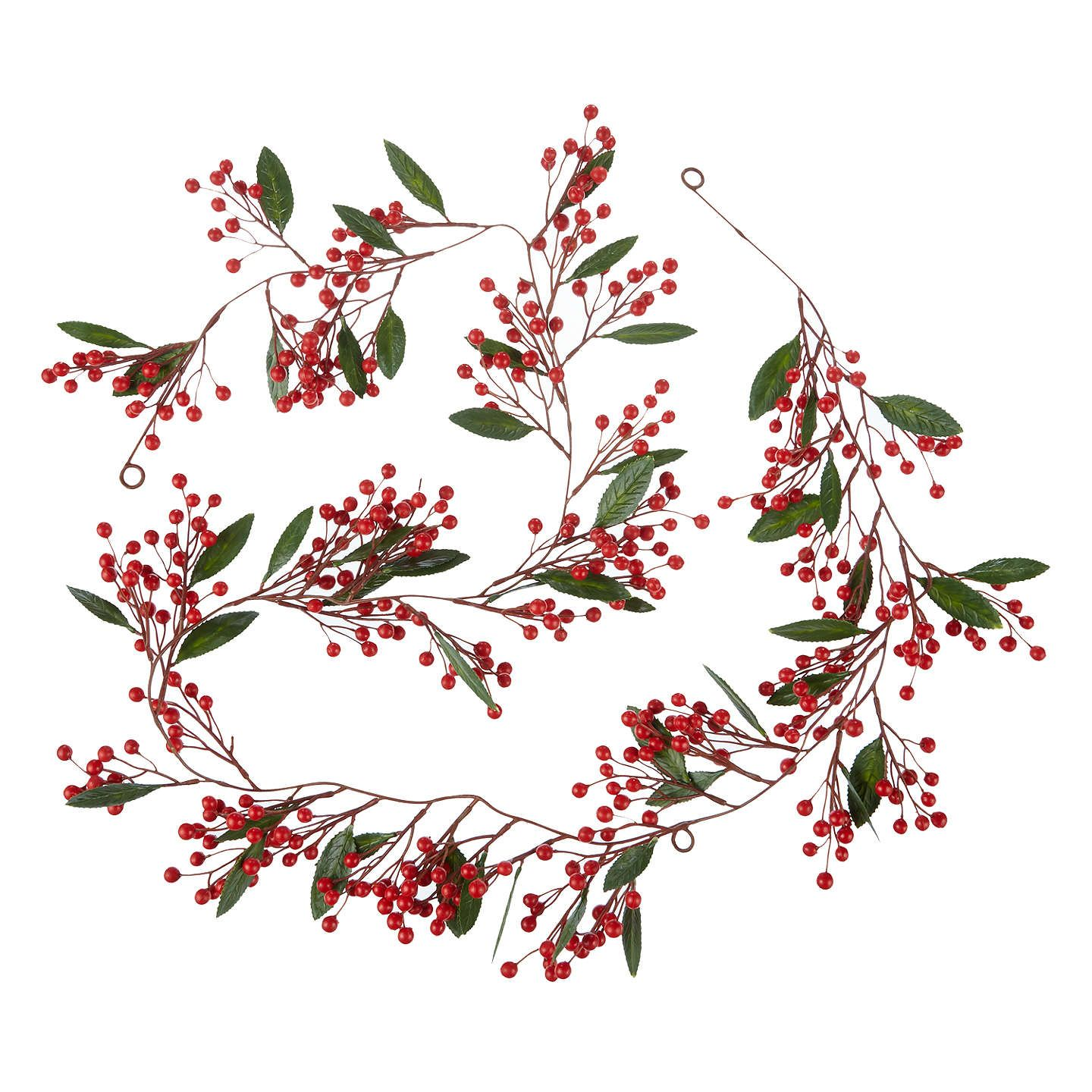Buyjohn Lewis Folklore Red Berry Slim Garland, L180Cm, Red Online