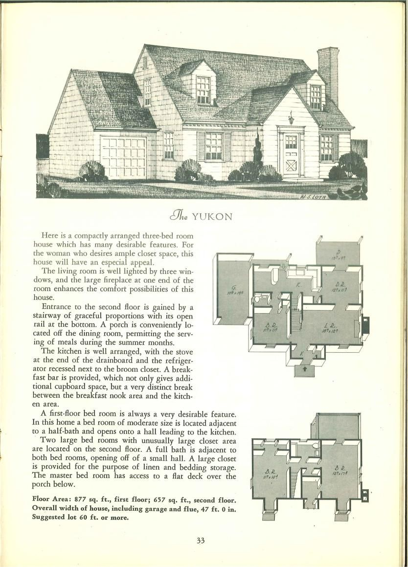 Tested homes : post-war edition 1946 | House plans with ...