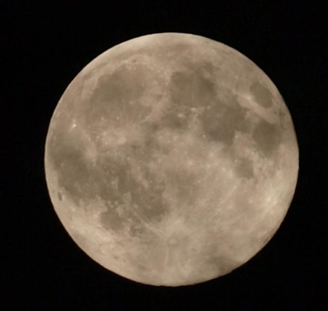 [저녁에 한국에서 D-SLR로 찍은 슈퍼문(super moon) 사진]