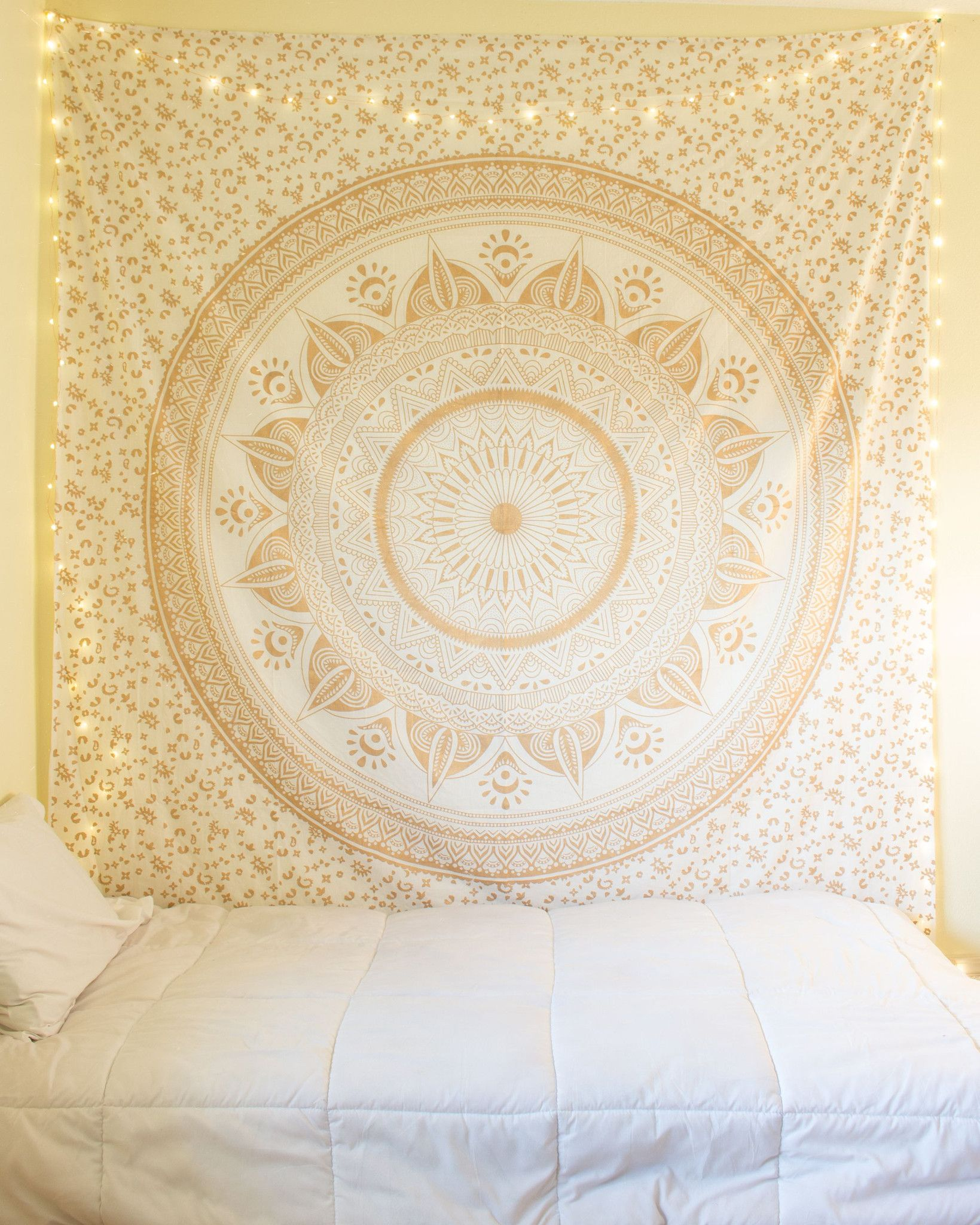 Gold Dreams Tapestry from https://thebohemianshop.com   Room ideas ...