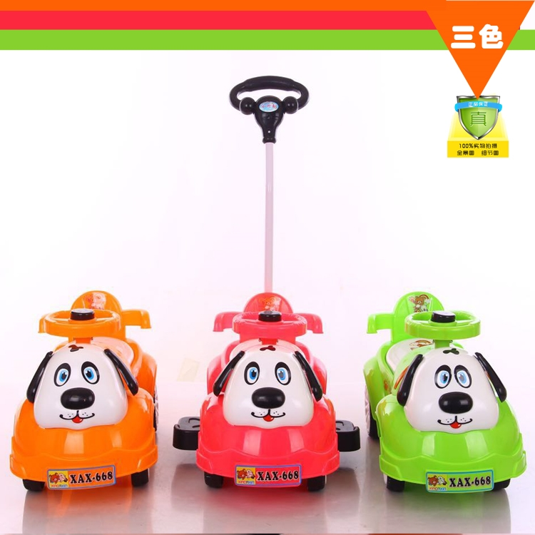 53.00$  Watch now - http://alij4m.worldwells.pw/go.php?t=32620734676 - Infants and young children scooter yo car baby walker stroller four children toy car can sit walker who 53.00$