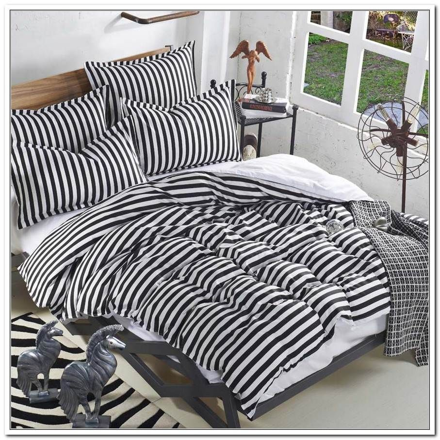 Black And White Stripe Twin Comforter Bedding Sets Bed Linen Sets White Bed Set