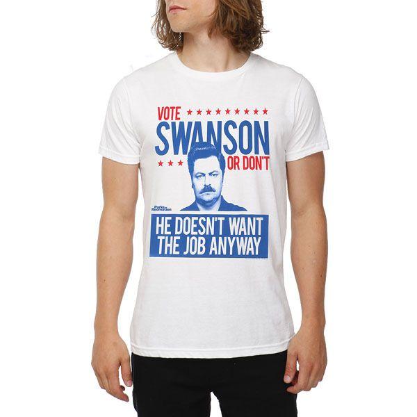 414bc0e2d Parks And Recreation Vote Ron Swanson T-Shirt | Cool ideas | Parks ...